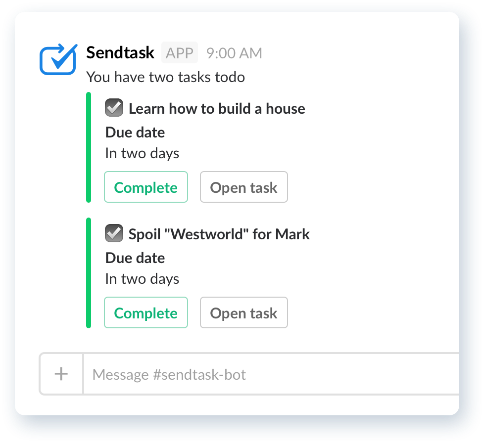 slack tasks todo